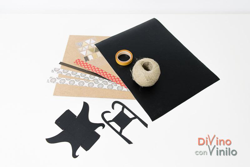 materiales para hacer una pizarra con trineo forrada con vinilo pizarra