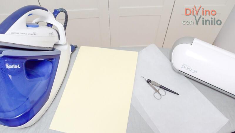 materiales para aplicar vinilo textil en casa