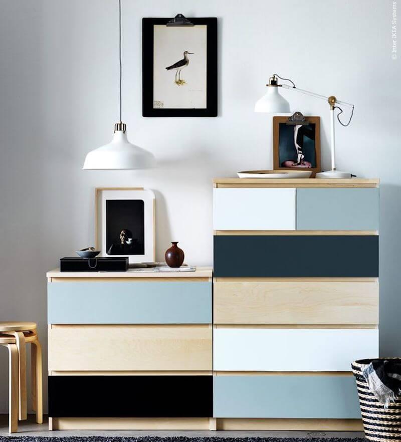 decorar muebles de Ikea con vinilo autoadhesivo
