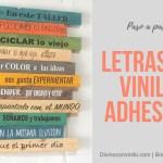 Cómo hacer letras de vinilo adhesivas para decorar tus paredes