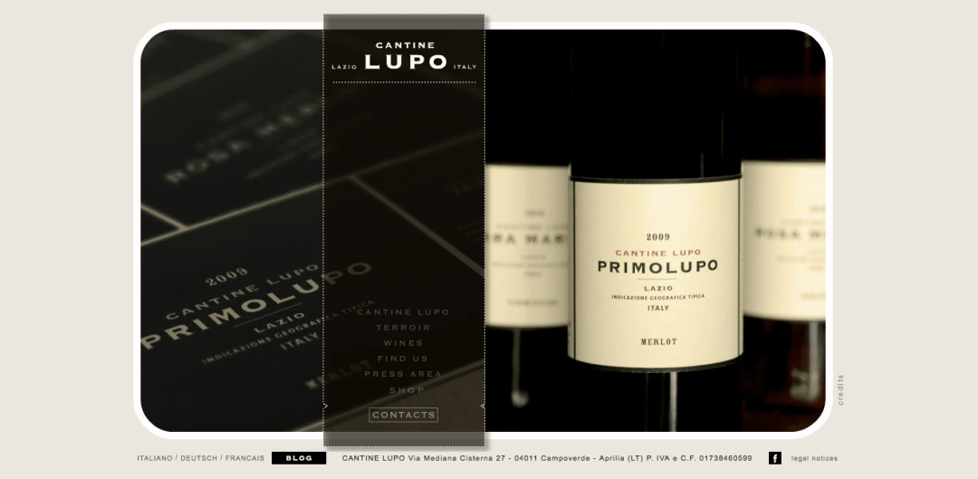 Cantine Lupo – Winery Web Content