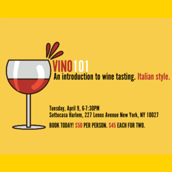 Vino 101 at Sottocasa: Italian Wine Education