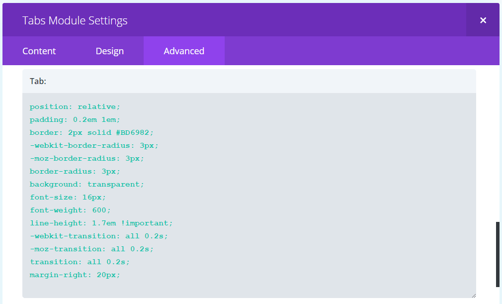 Using the Divi Tabs Module to create a Filterable Image