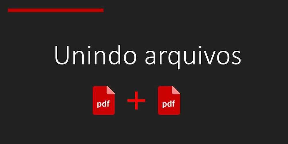 dois logos de arquivos PDF separados por um símbolo de adição