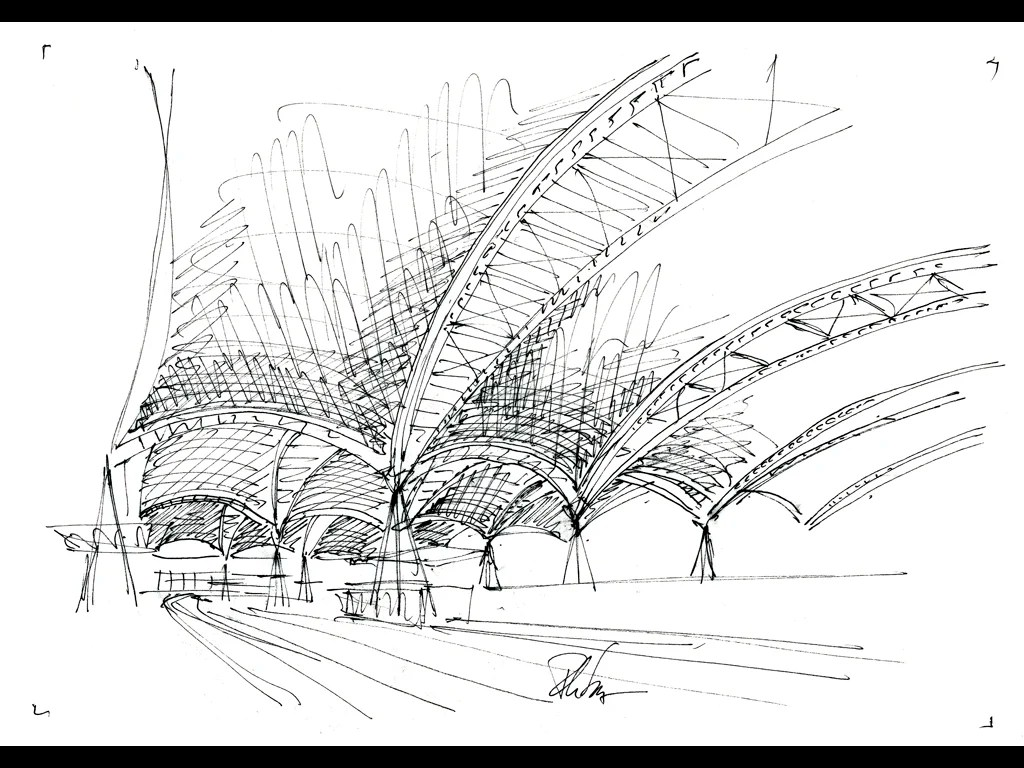 Philippe Samyn And Partners Nmbs Train Station Canopy