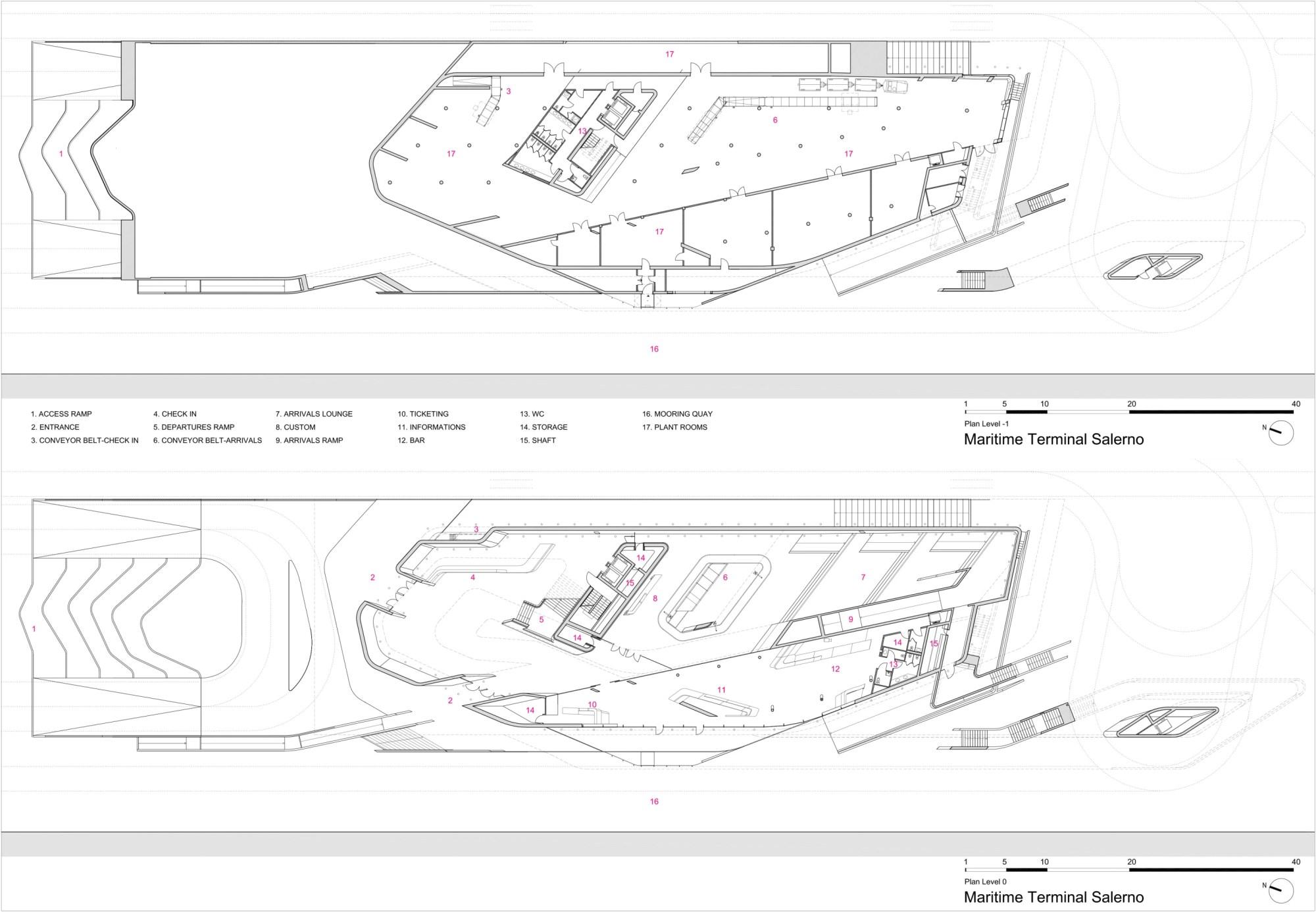 hight resolution of zaha hadid architects h l ne binet hufton crow salerno maritime terminal