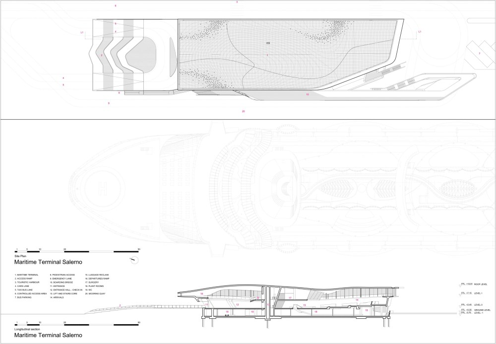 medium resolution of zaha hadid architects h l ne binet hufton crow salerno maritime terminal