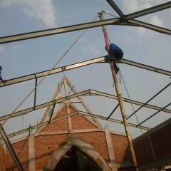 Kanopi Baja Galvanis Galvalum Kombinasi Kuda Wf Gereja Gayam Kediri ...