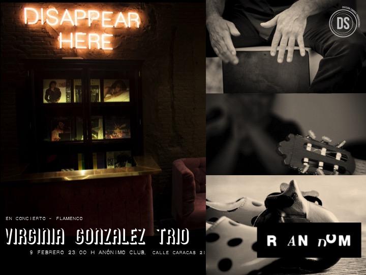 Virginia González Trío, flamenco en #ANÓNIMOclub de Random