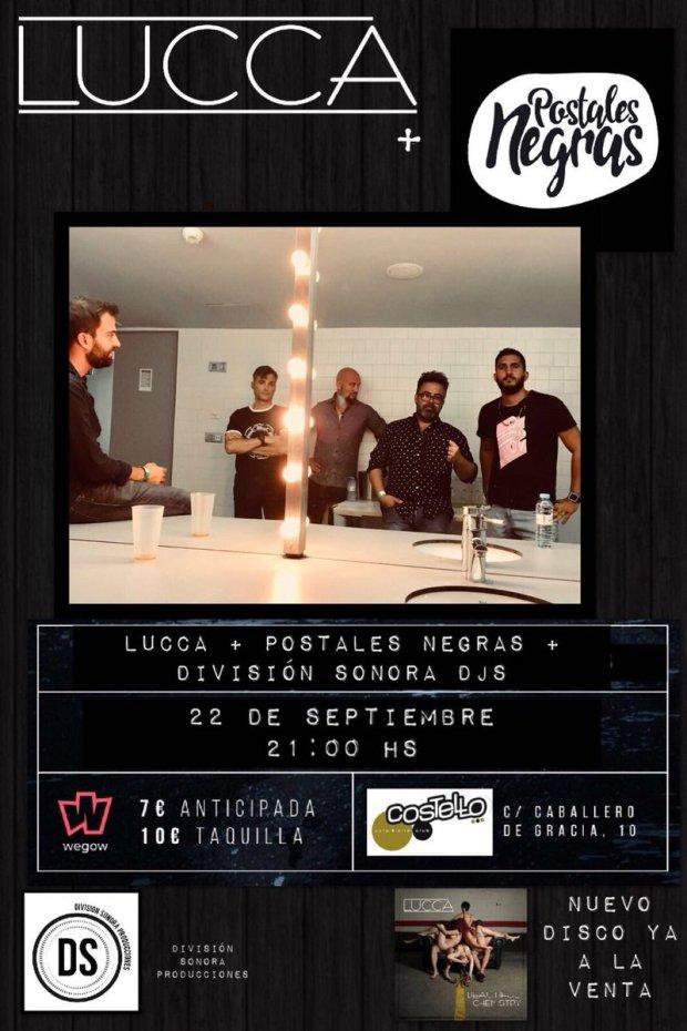 LUCCA + POSTALES NEGRAS + División Sonora Djs @ Costello Club | Madrid | Comunidad de Madrid | España