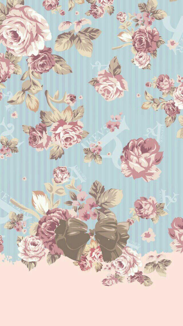 Cute Wallpapers Aesthetic ガーリーな花柄のiphone壁紙 スマホ壁紙 Iphone待受画像ギャラリー
