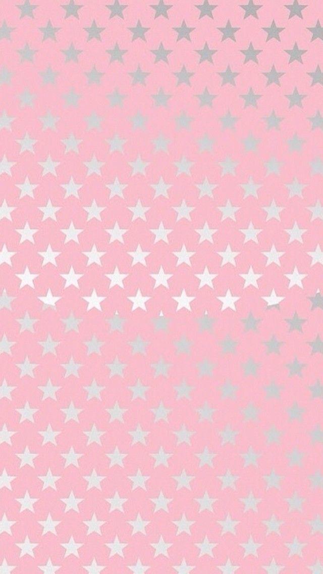 Star Wallpaper Cute Kawaii ピンク地に銀の星柄 スマホ壁紙 Iphone待受画像ギャラリー