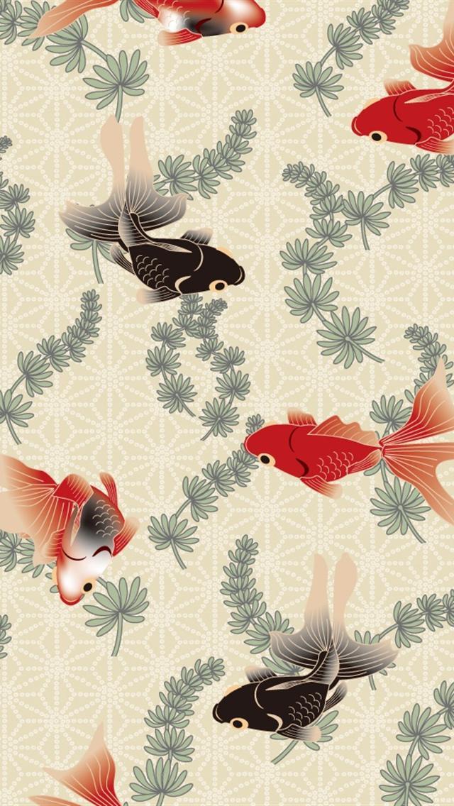 Cute Japanese Wallpaper For Android 金魚の和柄iphone壁紙 スマホ壁紙 Iphone待受画像ギャラリー