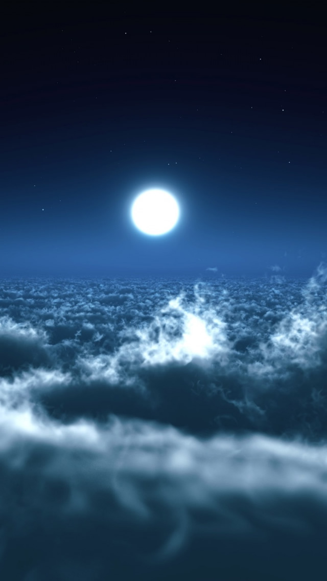 Gucci Wallpaper Iphone 7 Moon Over Clouds Iphone 5 Wallpaper Download Ipad