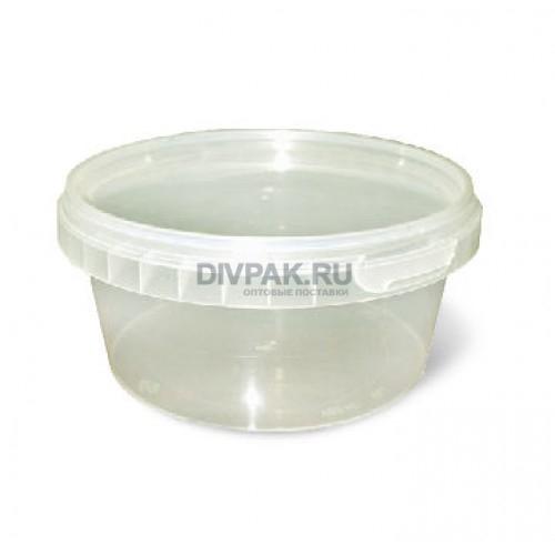 Ведро пищевое 0.55л круглое прозрачное