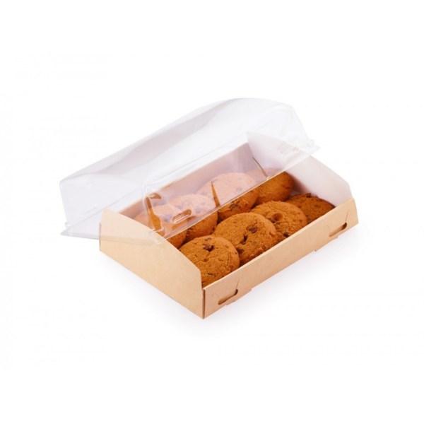 ДоЭко контейнер под десерт OpBox 1000 с прозр крышкой 185х140х55 (200шт)