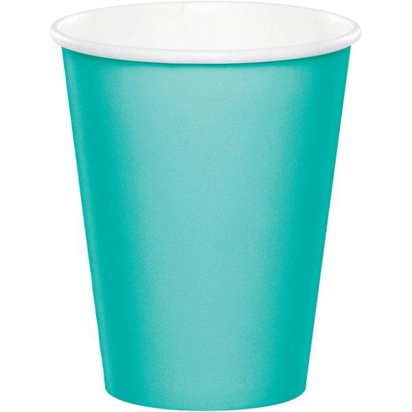 Бумажный стакан Л-ПАК 0,165л диам 70мм ГН Бирюзовый (2000шт)