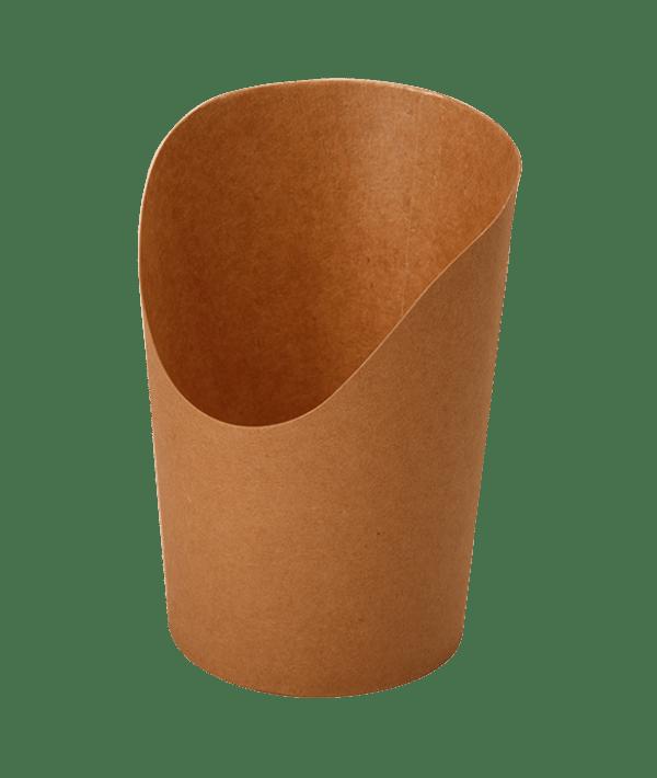 ДоЭко короб под фри и снеки ECO SNACK CUP M 480мл Pure Kraft (1000шт)