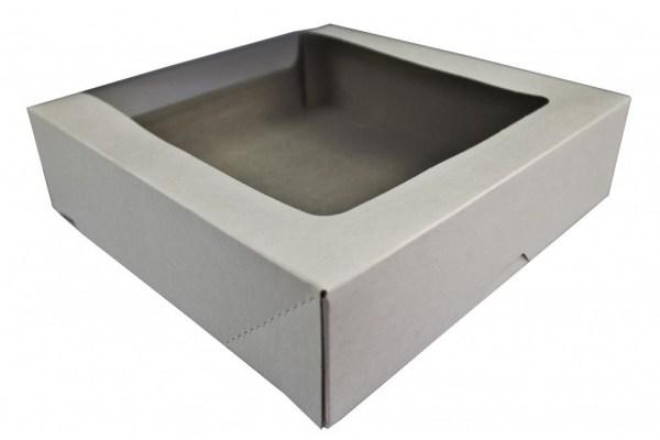 Доэко Короб для тортов с прозрачной крышкой КТ100 белый Патичерри