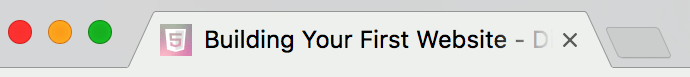 a browser tab with title text