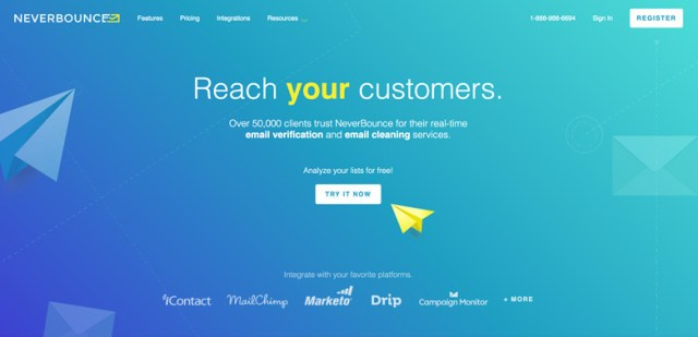 A screenshot of unbounce.com's use of gradients in their web design.