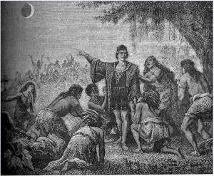 Colón y el eclipse