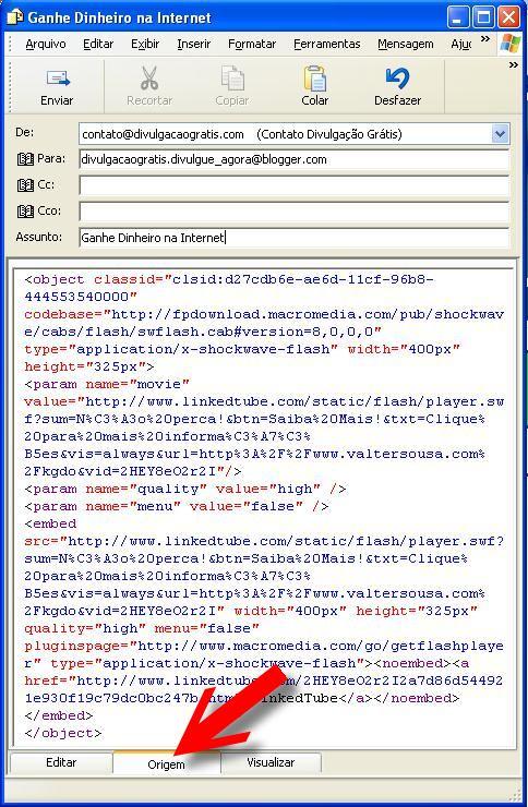 Outlook Express e LinkedTube