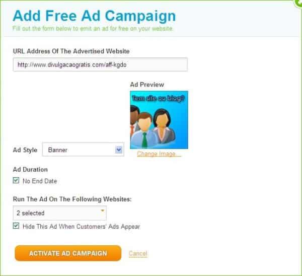 adtaily044 adicionando suas próprias campanhas no adtaily