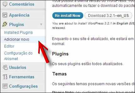 adicionar plugin wordpress