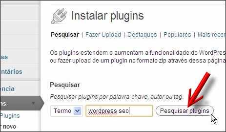 pesquisar plugin wordpress seo