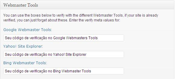 plugin wordpress seo yoast ferramentas webmasters tools
