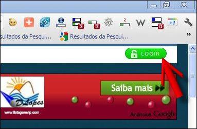 botão login divulgar blogs