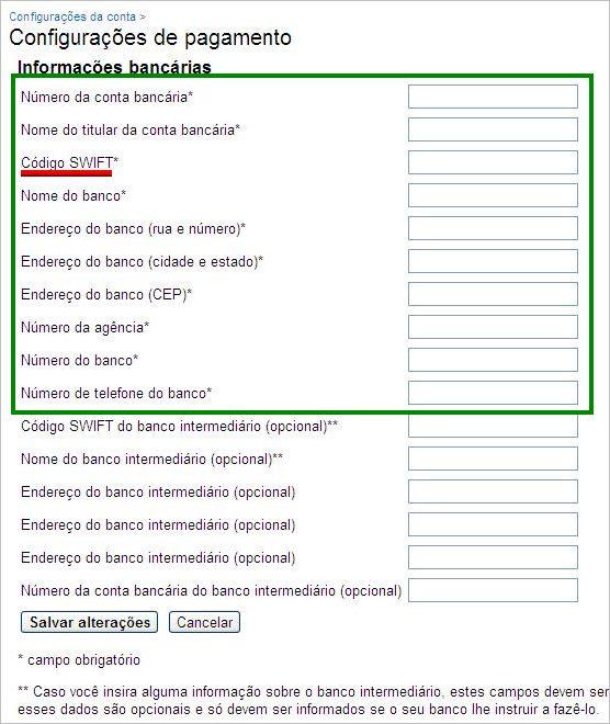 formulário google adsense receber comissões