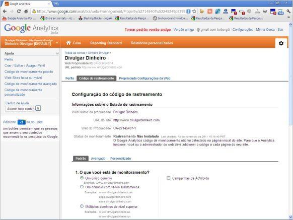 homepage google analytics
