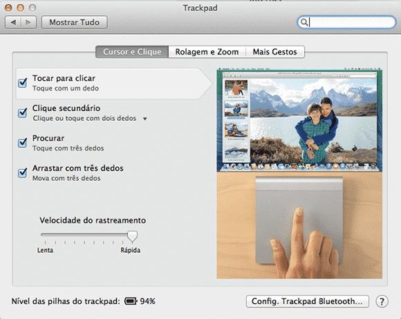 configuracoes trackpad mac
