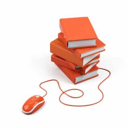 Cursos online com mouse e ebooks livros