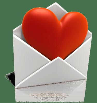 Email Amor Heart Coração Vermelho Carta Envelope