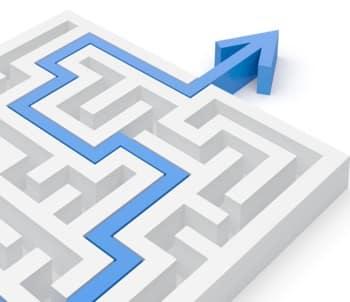 Estratégia Labirinto Seta Azul