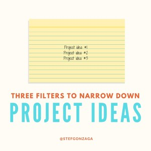 three filters project ideas