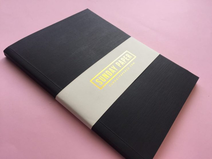 Sunday Paper Co Simple Notebook in Black