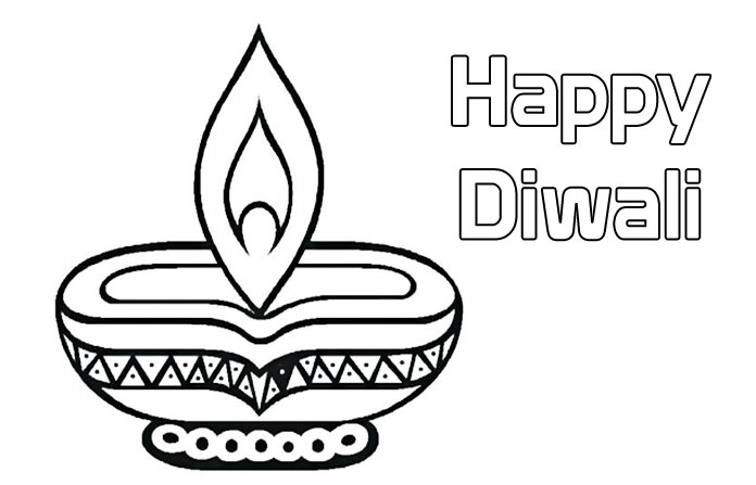 Happy Diwali Colouring Pages for Kids, Deepavali Printable