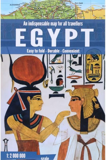 Egypt Indispensable Map For all Travellers Easy to Fold - Durable - Convenient