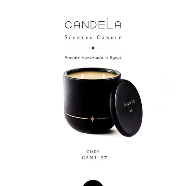 Amore Black Candle