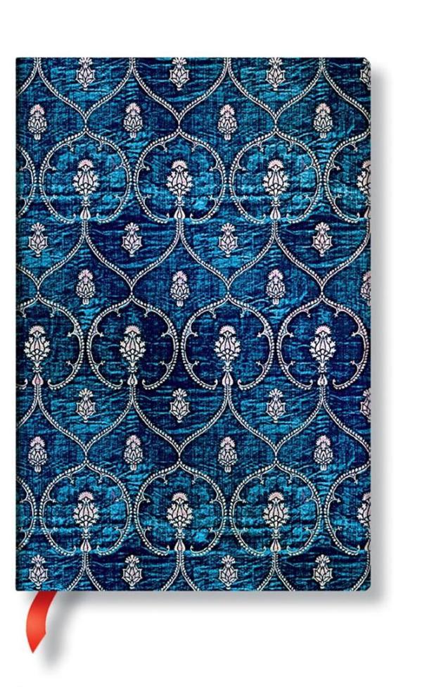 Mini Blue Velvet lined Notebook