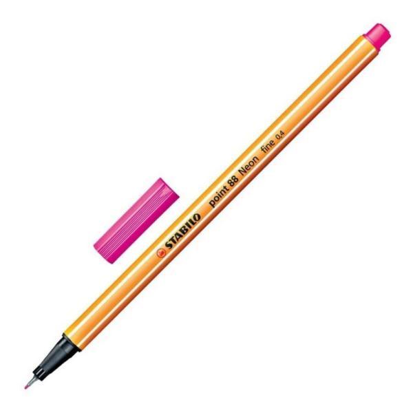 Stabilo Point 88 Neon Pink pen