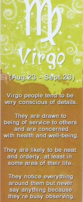 I&Y Virgo Bookmark 23 Aug