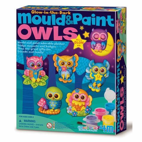 Mould & Paint Glow Owls Ages 5
