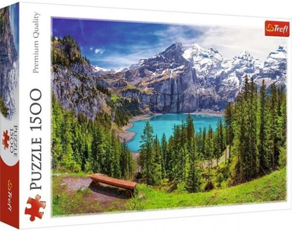 Lake Oeschinen, Alps, Switzerl