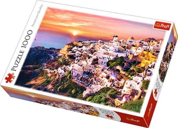 SunSet Over Santorini Trefl Puzzle Size 1000 680x480 (11110)