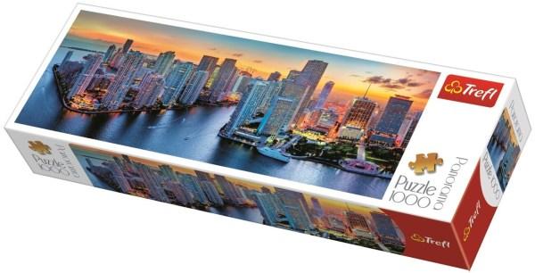 Miami After Dark Trefl Puzzle Size Panorama 1000 970x340 (29027)